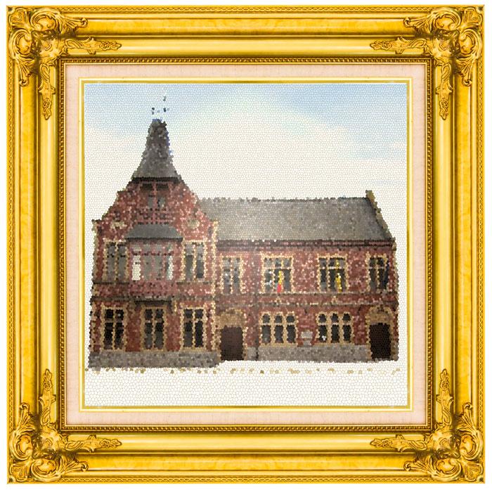 het gemeentehuis van Oosterzele