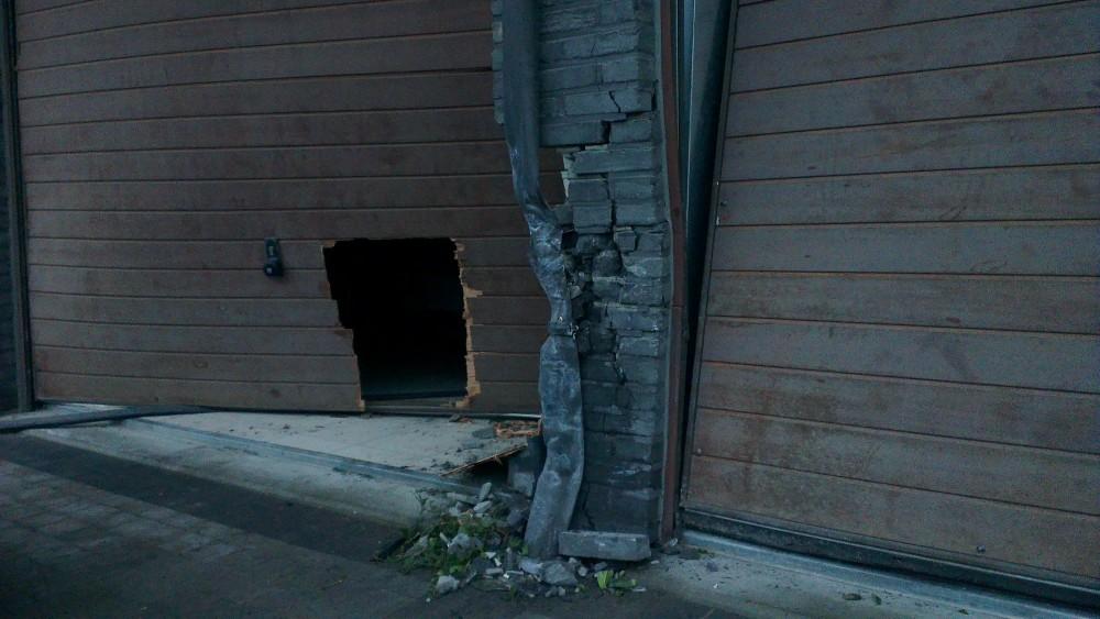 schade aan de garagebox