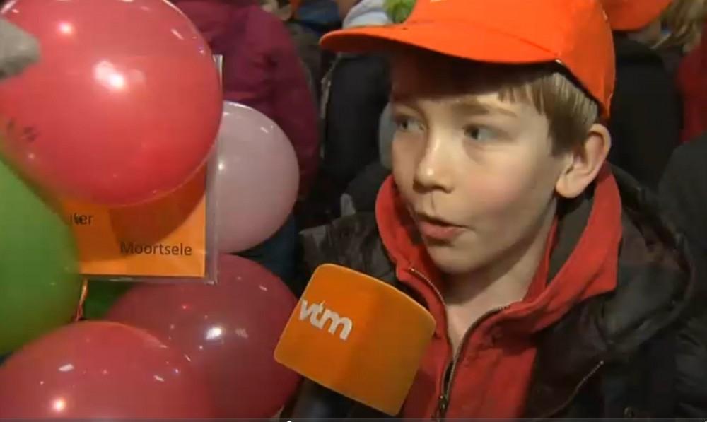 Isaac Van Asch, geïnterviewd op het VTM-journaal van 16 februari in de Sint-Bavokatedraal te Gent