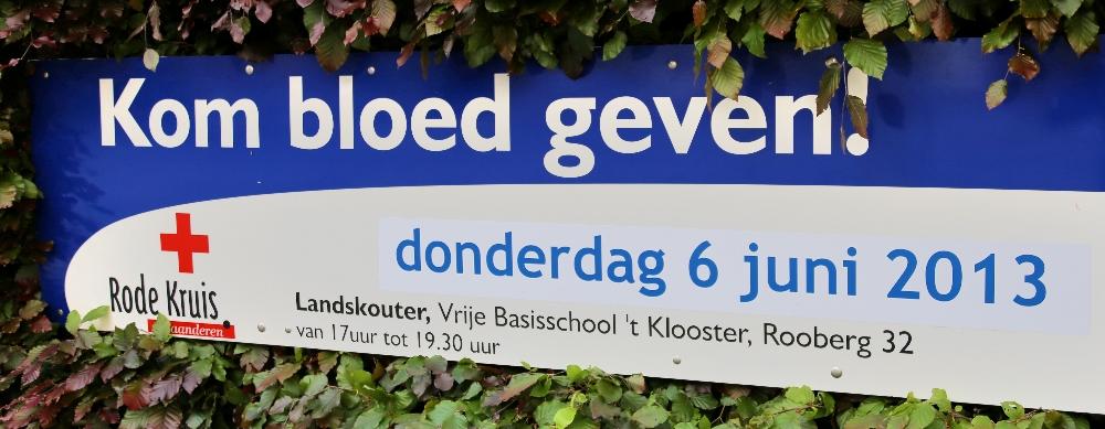 bloed geven kan in Landskouter op donderdag 6 juni