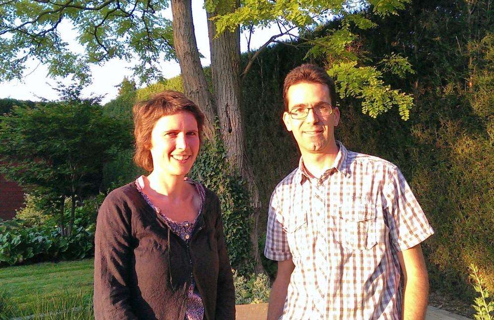 Annelies Sevenant en Kris Van Heghe van de Werkgroep Trage Wegen Oosterzele