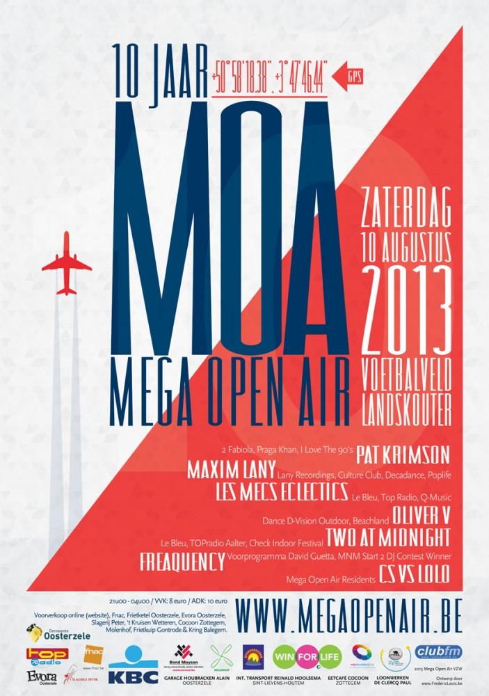 de affiche van MOA 2013 - een ontwerp van Fréderic Louis