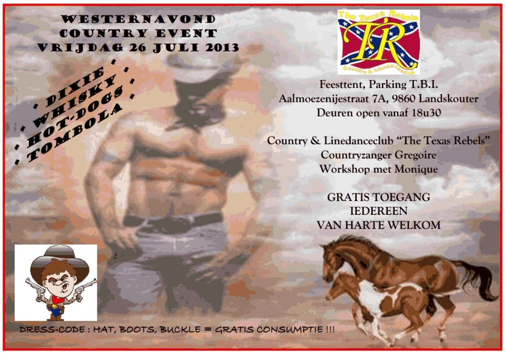 Een country- en westernavond opent de kermis van Landskouter anno 2013