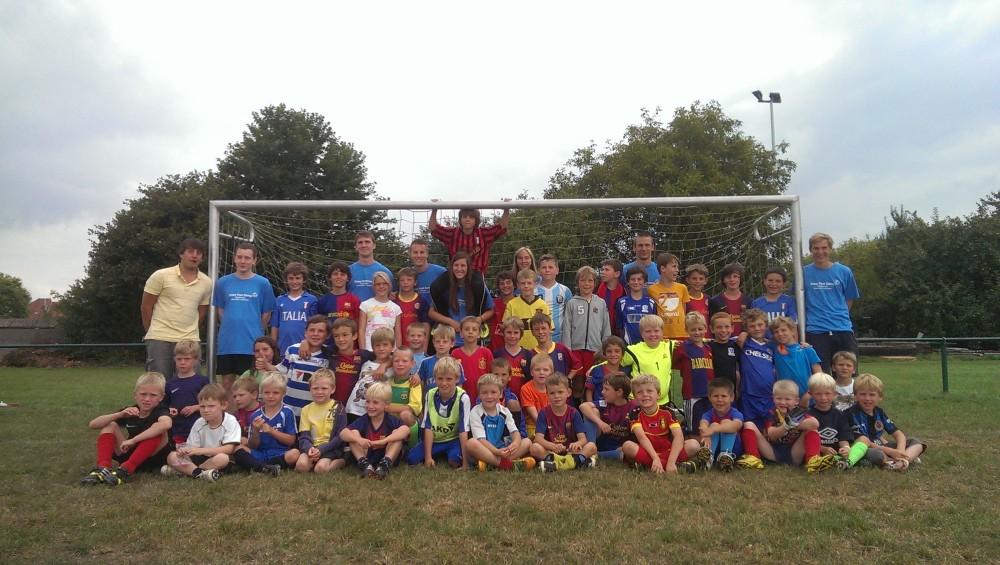 Crazy Foot Camp - trainers en deelnemers