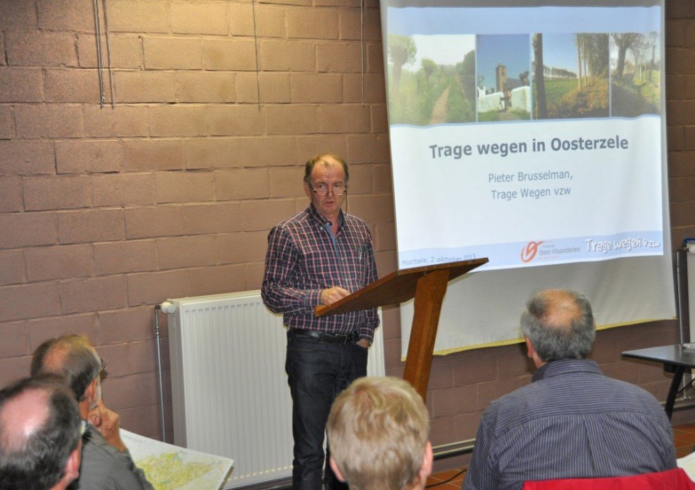Christ Meuleman bij de voorstelling van de evaluatiekaart in het Erfgoedhuis