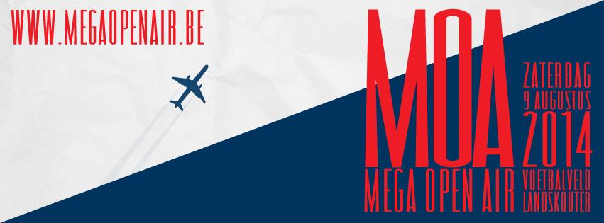 Mega Open Air 2014 op zaterdag 9 augustus, die jaar voorafgegaan door een gratis kids editie