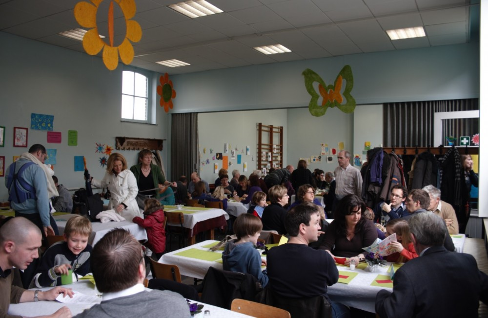 Eetfestijn van de Vrije Basisschool in het weekend van 22-23 maart in Moortsele