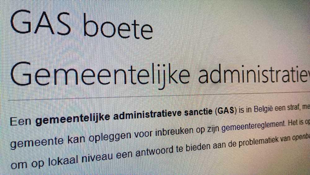 Discussie over GAS boetes in Oosterzele en de andere gemeenten van de politiezone Rhode & Schelde