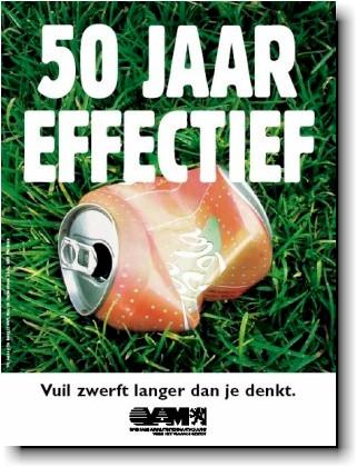 Affiche van een oude OVAM campagne tegen zwerfvuil