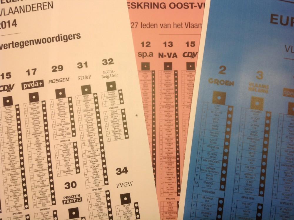 Europese, federale en Vlaamse verkiezingen op zondag 25 mei
