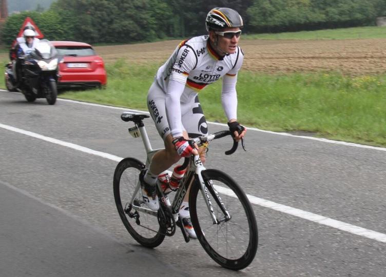 Lotto-Belisol wielrenner André Greipel op de Betsberg tijdens de Belgium Tour (foto @lau_vervust