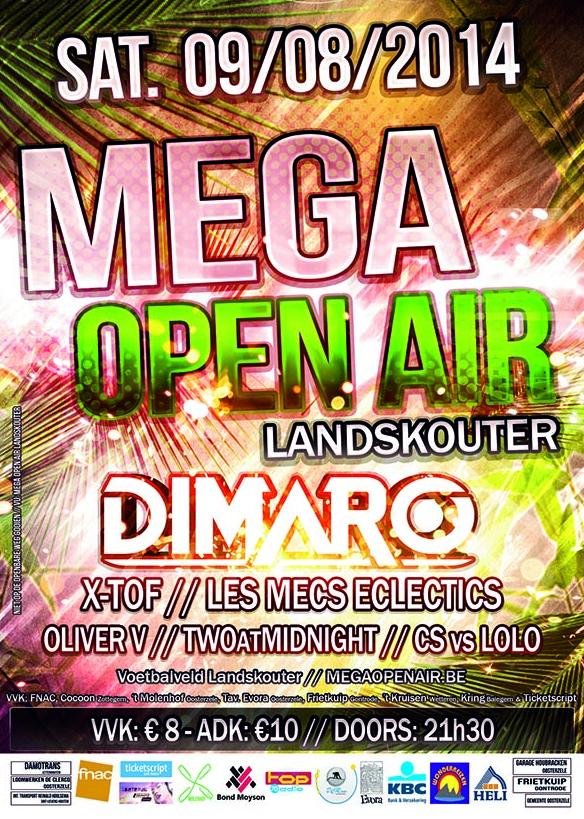 de affiche van Mega Open Air, editie 2014