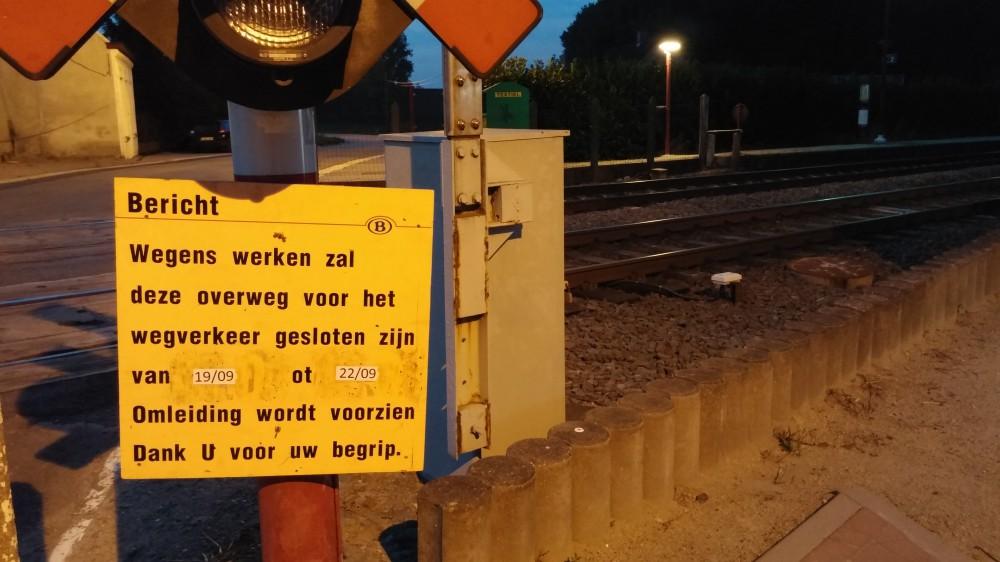 werken aan de spoorwegovergang