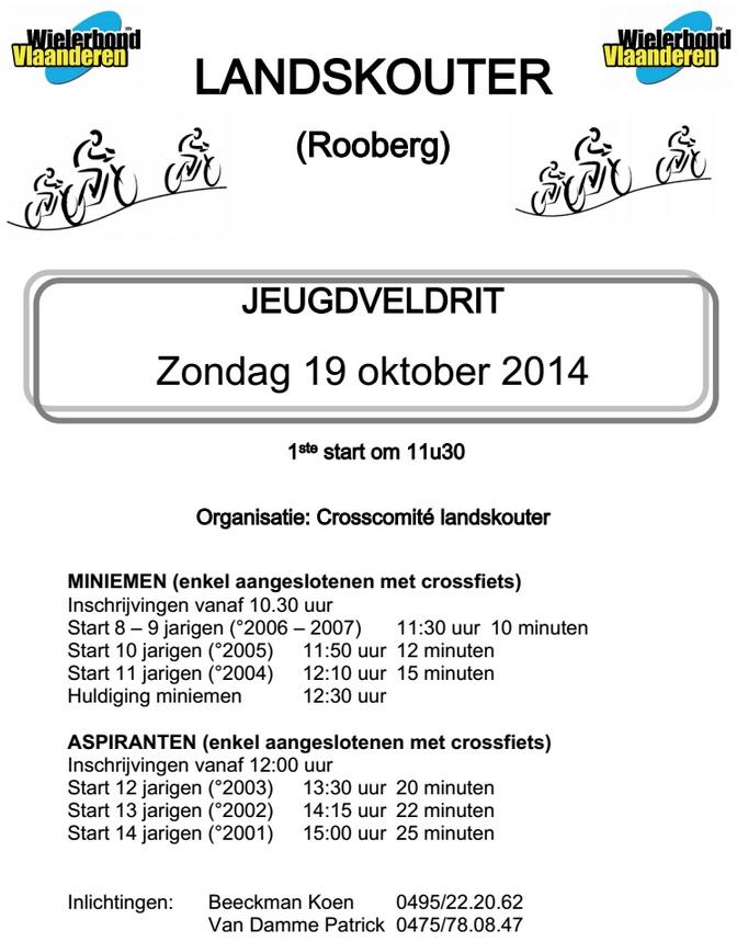 Jeugdveldrit in Landskouter op zondag 19 oktober 2014