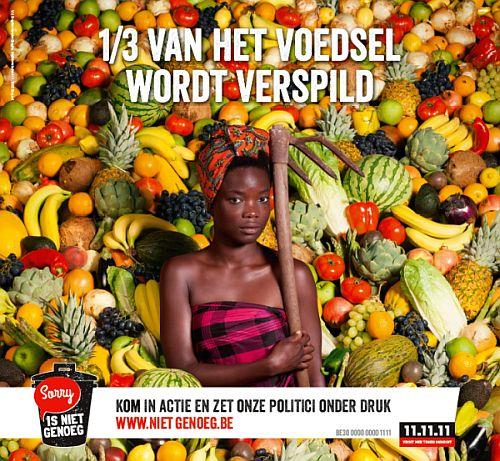de 11.11.11 actie van 2014 focust op verspild voedsel