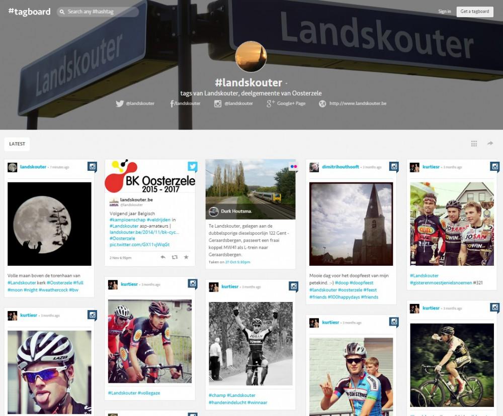 #tagboard van Landskouter - een verzameling van publieke sociale mediaberichten met de tagline #landskouter