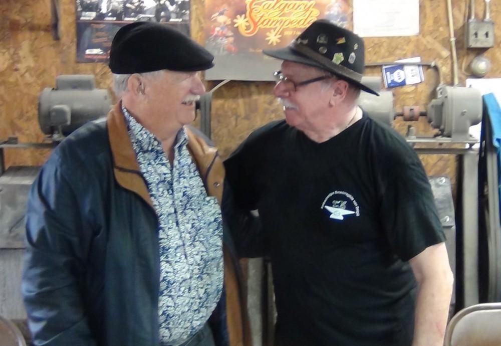 Lou Mueller en Roger Bockstaele tijdens de workshop