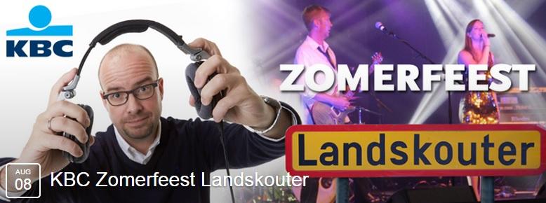 """""""KBC Zomerfeest Landskouter"""" op zaterdag 8 augustus"""
