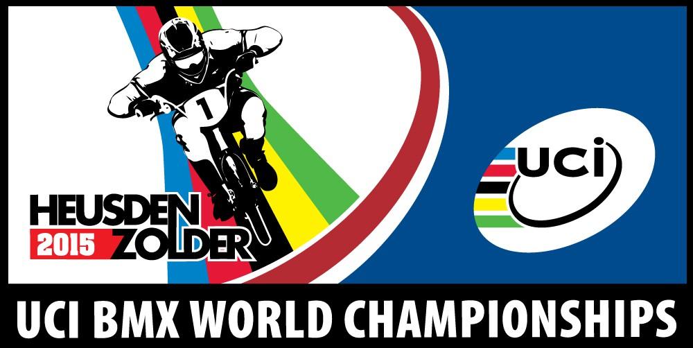 Logo van het wereldkampioenschap BMX 2015 in Heusden-Zolder