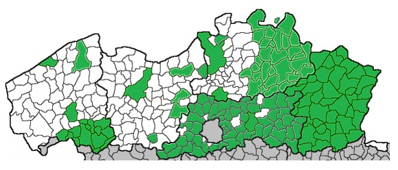 dit kaartje van de Vlaamse Vereniging van Steden en Gemeenten geeft weer dat ongeveer de helft van alle Vlaamse gemeenten het convenant ondertekenden (situatie van een jaar geleden op 9 juli 2014). De gemeenten in het oosten van het land zijn meer geneigd om zich hierin te engageren.