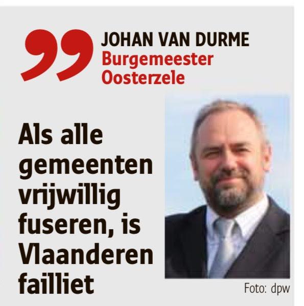 Quote van burgemeester van Durme in Het Nieuwsblad