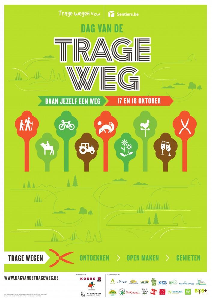 Dag van de Trage Weg in het weekend van 17 en 18 oktober. Elke werkgroep organiseert z'n eigen activiteit.