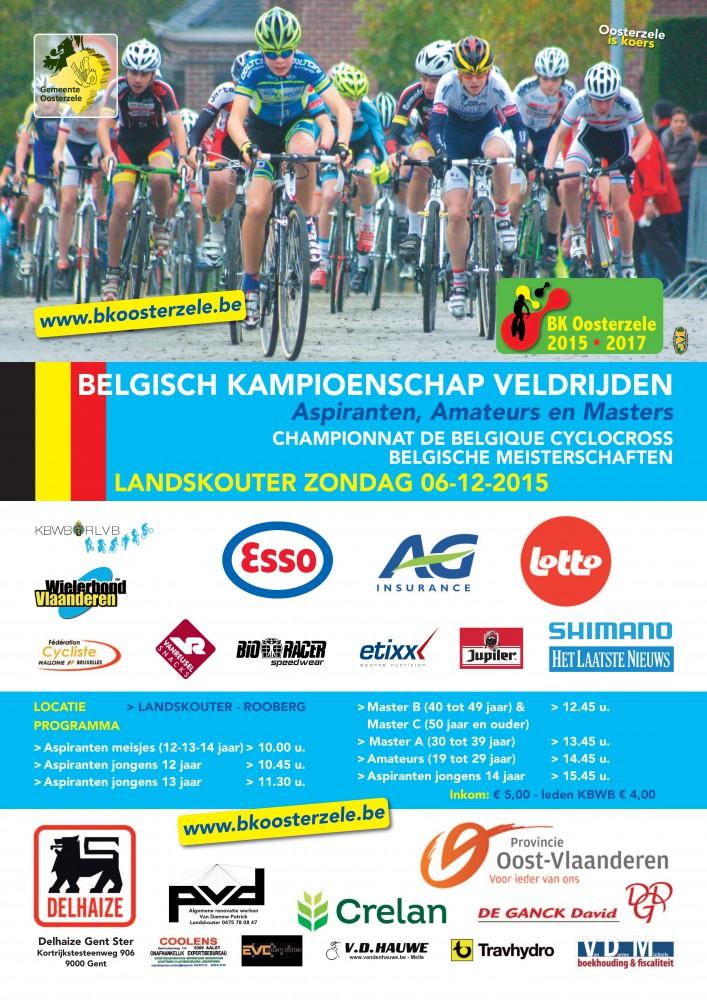 De affiche van het Belgisch Kampioenschap veldrijden in Landskouter
