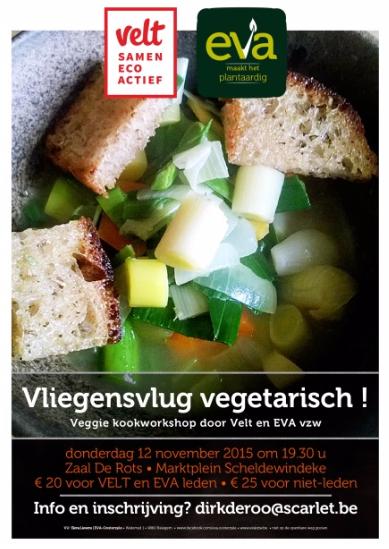 EVA Oosterzele en de week van de smaak - kookworkshop op 12 november