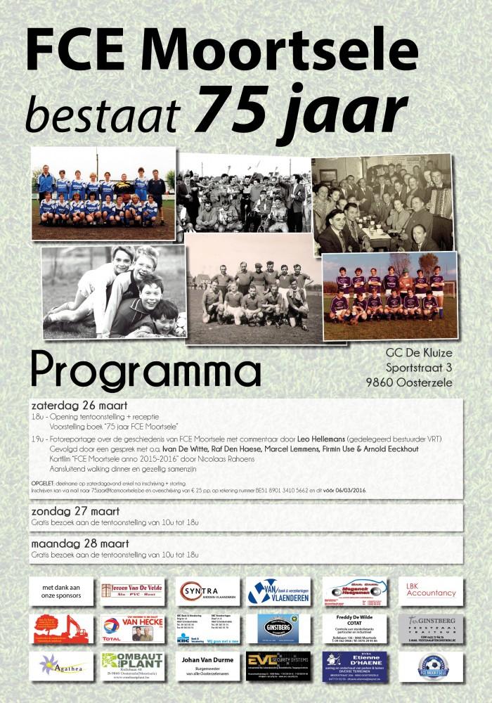 Programma naar aanleiding van het 75-jarig bestaan van FCE Moortsele