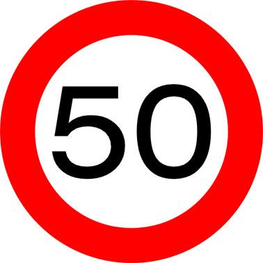 Zonaal snelheidsplan van Oosterzele op basis van 50 km/u