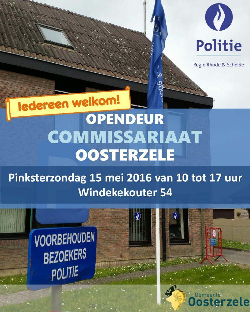 Het vernieuwd commissariaat in Oosterzele opent haar deuren op Pinksterzondag