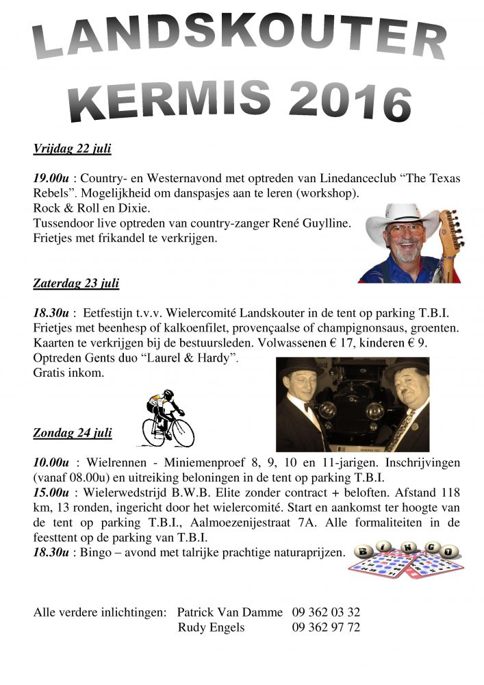 Het programma van Landskouter kermis 2016