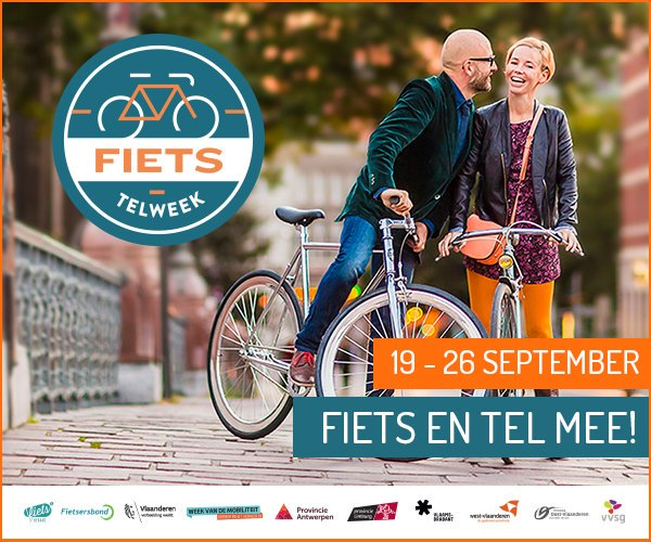 Fietstelweek van 19 tot 25 september